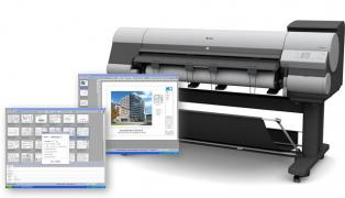 Photograph of Inkjet Printer with PlotWorks EZ Screen Captures