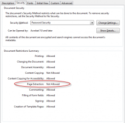 Acrobat Security Settings