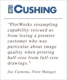 Cushing - A PlotWorks Fan!